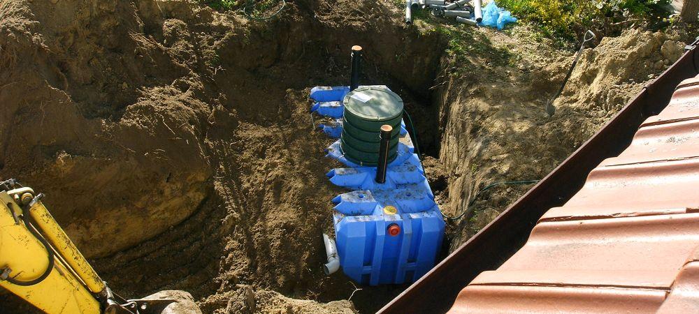 Zbiornik przydomowej oczyszczalni ścieków - montaż